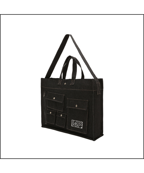 [아이사피] 03 Cargo Denim Bag Black