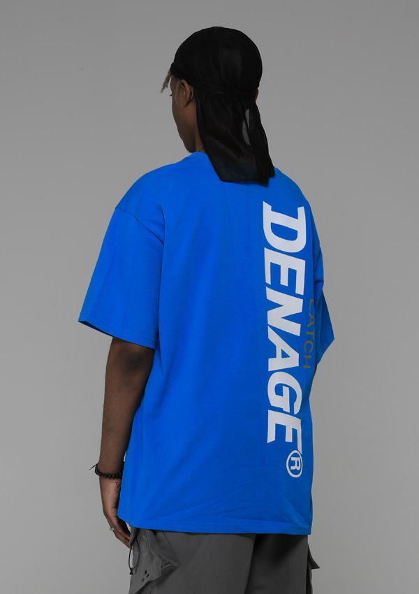 [드네이지] Side Big Logo Oversize T-shirt Blue_0046