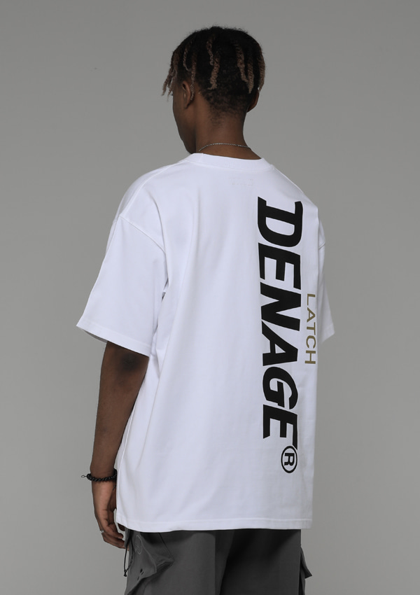 [드네이지] Side Big Logo Oversize T-shirt White_0045