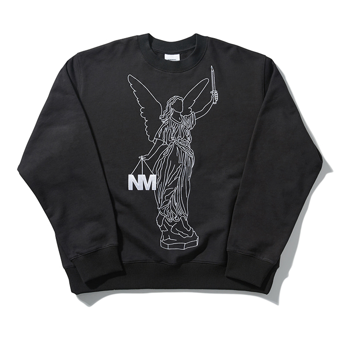 [노매뉴얼] ANGEL SWEATSHIRT - BLACK
