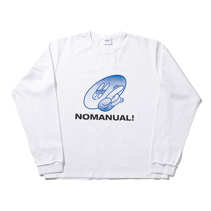 [노매뉴얼] NOPE! LONG SLEEVE TEE - WHITE