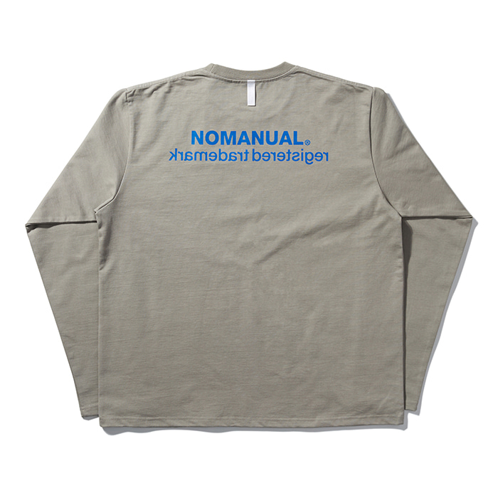 [노매뉴얼] REVERSED TM LONG SLEEVE TEE - KHAKI GREY