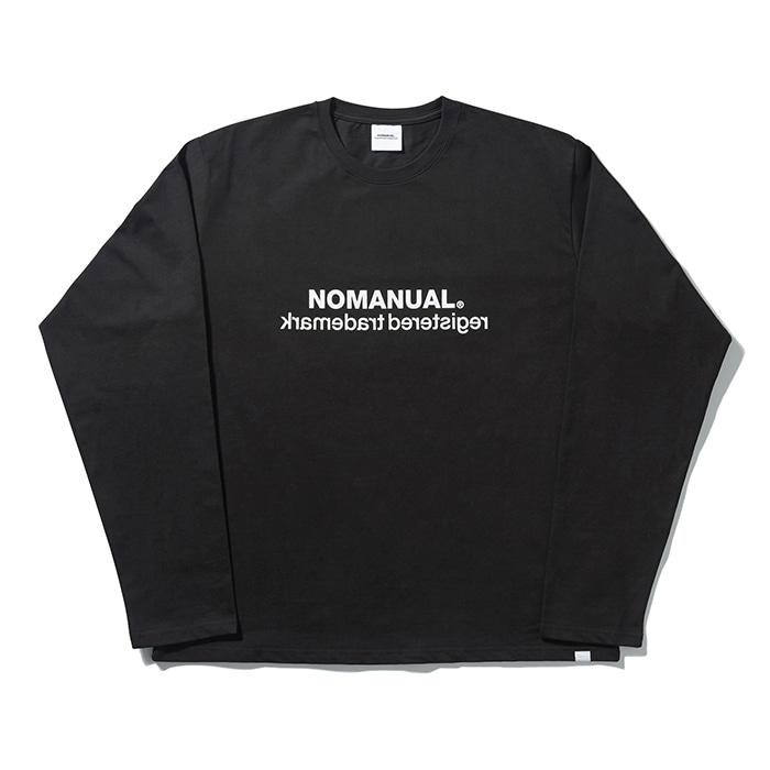 [8/23 예약배송][노매뉴얼] BIG LOGO LONG SLEEVE TEE - BLACK