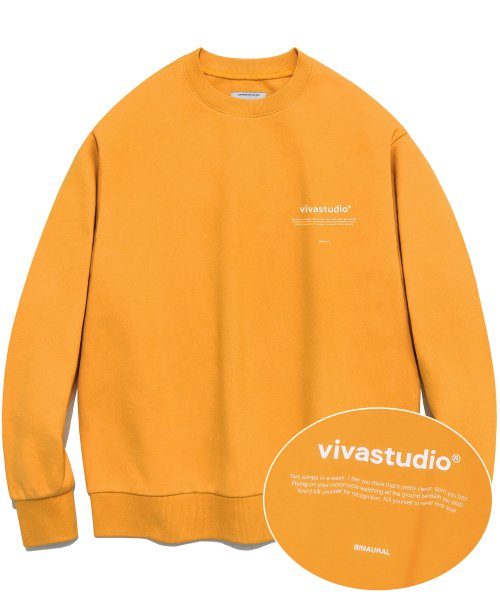 [비바스튜디오] NEW BINAURAL CREWNECK IA [ORANGE] 결제창