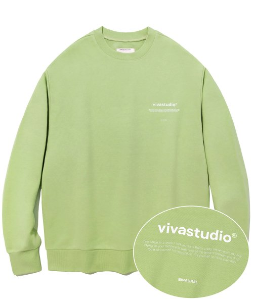 [비바스튜디오] NEW BINAURAL CREWNECK IA [PASTEL GREEN] 결제창