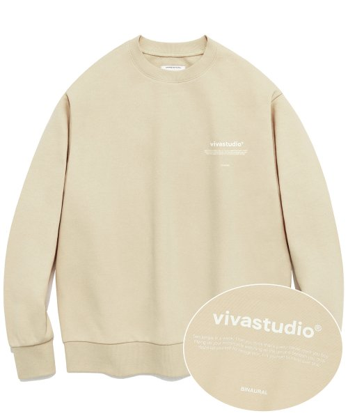 [비바스튜디오]  NEW BINAURAL CREWNECK IA [BEIGE] 결제창