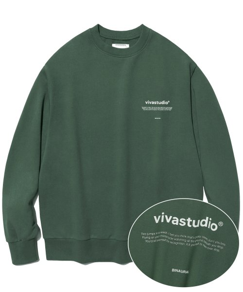 [비바스튜디오]  NEW BINAURAL CREWNECK IA [GREEN TEA] 결제창