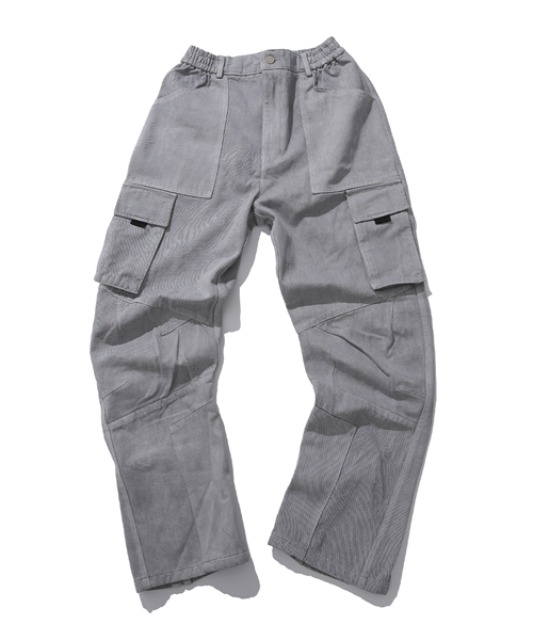 [아이사피] washing panel pants gray