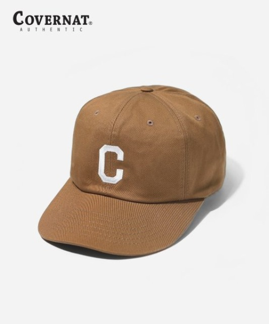 [커버낫] EMBROIDERY C LOGO B.B CAP BROWN -오프라인-