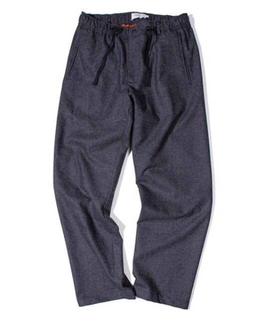 [아워셀브스] FINE WOOL WIDE SLUMBER PANTS (Charcoal)
