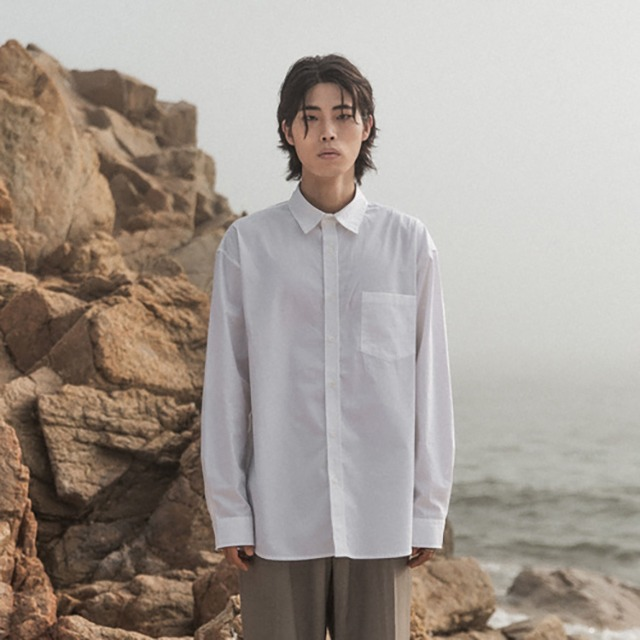 [오디너티] Cotton gather collar shirt