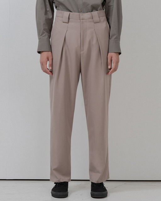 [바이플래퍼] BF wide belt loop slacks beige
