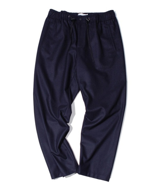 [아워셀브스] FINE WOOL WIDE SLUMBER PANTS (Dark navy)