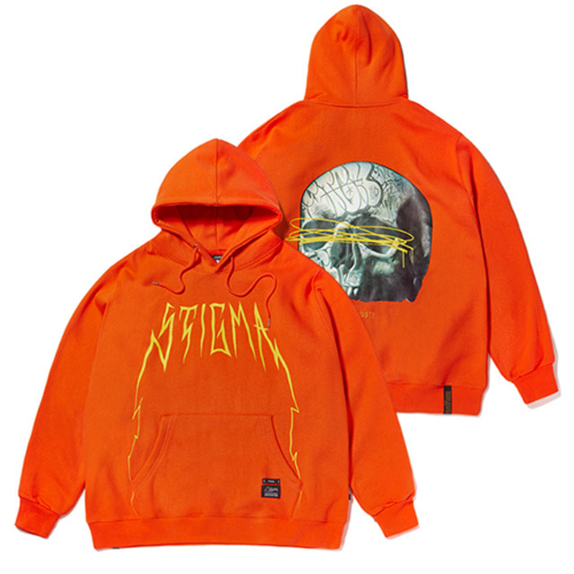 [스티그마]STIGMA 20 SKULL OVERSIZED HEAVY SWEAT HOODIE ORANGE