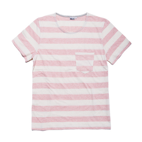 HEATHER STRIPE T RED