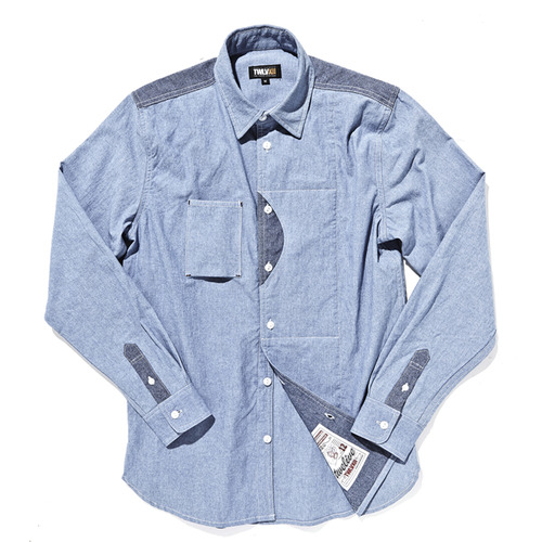 CHAMBRAY UTIL SHIRT (light blue)